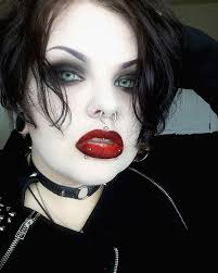 Gothic Halloween Makeup Ideas by Mega Dark Gothic Eyes Eyebrows And Lips Simple But