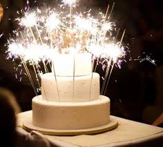 birthday cake sparklers stellar sparkler ideas to light up your wedding cake wedding