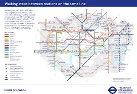 Map Walking Distance There U0027s A New Tube Map To Show Us How Many Steps There Are Between