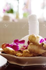 Spa Decor Thai Spa Arrangement For Massage Herbal Bag Orchids Decor