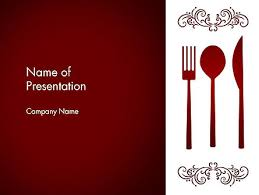 restaurant presentation powerpoint template backgrounds 13356