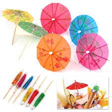 outdoortips 24 multi coloured paper cocktail umbrellas parasols