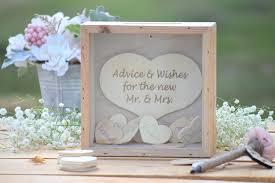 Wedding Wishes Shadow Box Wedding Advice Shadow Box Heart Drop Wedding Guest Book