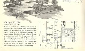 vintage house plans mid century homes 1950s homes 1950 ranch mid