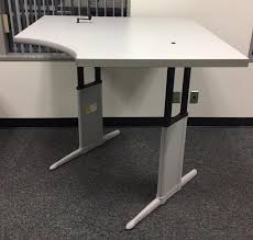 steelcase sit stand desk steelcase sit stand desk recycled office furnishings