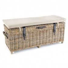 Storage Chest Bench Rattan Storage Benches Foter