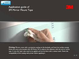 Mounting A Bathroom Mirror by Application Guide Of 3m Mirror Mount Tape English Youtube