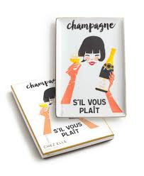 champagne cartoon chez elle tray champagne s u0027il vous plait tableware and home