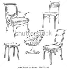 Chair Armchair Chairs Armchairs Icons Set Furniture Collection Stock Vector