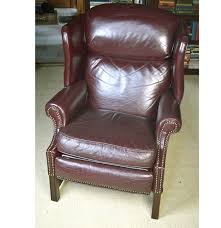 Brown Leather Chair And A Half Design Ideas Furniture Leather Wingback Recliner For Comfortable Armchair
