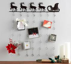 bronze reindeer wall mounted card holder pottery barn