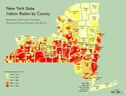 Counties In Ny State Map Ny Radon Map A Best Home Inspection Home Improvement Services