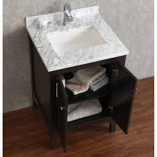 buy martin 24 inch solid wood single bathroom vanity in espresso
