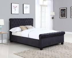 Ottoman Bed Black Flair Furnishings Lola Fabric Ottoman Bed Black Fabric Range