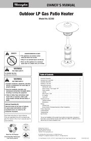 Garden Sun Patio Heater Manual by Charmglow Patio Heater Parts 953