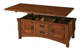 Lift Top Coffee Tables Amish Logan Lift Top Coffee Table