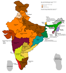 Gujarat India Map by Map Of Languages With Official Status In India Mapfans