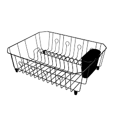 Bed Bath And Beyond Dish Rack Amazon Com Rubbermaid Antimicrobial Dish Drainer With Silverware