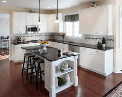 Kitchen Backsplash Photos White Cabinets Kitchens With White Cabinets And Dark Floors Under Cabinet Range