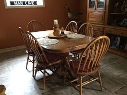 Oak Dining Room Table And Chairs Help Re Purposing Paint Oak Table And Chairs