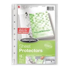top sheet brands wilson jones binder accessories sheet protectors wilson