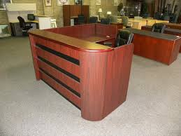 Used Receptionist Desk For Sale Used Reception Desk Right Return Double Pedestal W Paper Sorting
