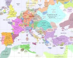 Map Of Mediterranean Europe by Francesco Petrarch Father Of Humanism