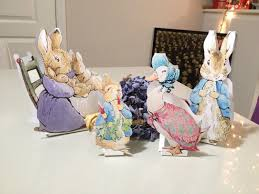 Baby Shower Table Setup by Instant Download Medium Peter Rabbit Cut Out Stands 12
