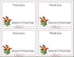 christmas thank you cards 6 printable gift tags christmas cards thank you notes