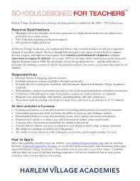 Example Of Teacher Resume Resume Sample For Biology Teacher Augustais
