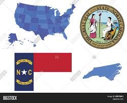 North Carolina State Map by Vector Illustration Of North Carolina Contains High Detailed Map