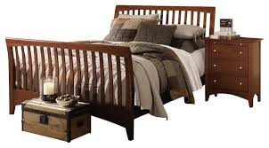 Solid Wood Sleigh Bed Wood Sleigh Bed Bonners Furniture