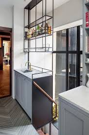 Kitchen Shelf Designs by Hanging Kitchen Shelves Suspended From Ceiling Contemporary