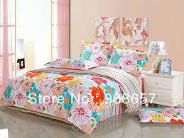 captivating orange and pink comforter fancy home design furniture