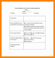 3 minutes meeting sample resume sections