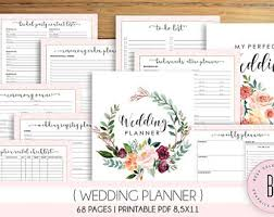 wedding organizer binder wedding planner pdf etsy