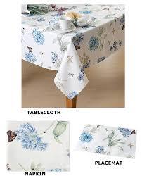 butterfly meadow blue table linens by lenox