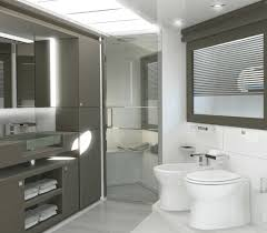 nice bathroom ideas with modern vanity mirror light and recessed