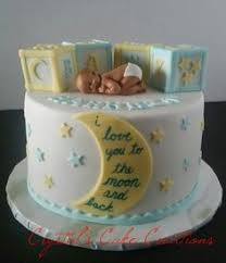 stars and moon baby shower cake baby boy pinterest shower