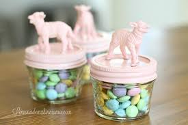 painted easter baskets lemonade makin easter candy jars so for easter