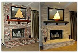 brick fireplace painting ideas home design inspirations