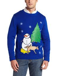 sweater with dogs on it alex s sad snowman sweater at amazon