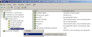 active directory finding certificate template in certificate