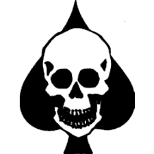 skull in spade decal decal depot