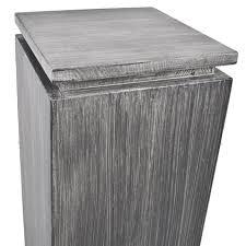 deko in grau mit aufsatz deko möbel holz 95x27x27cm grau