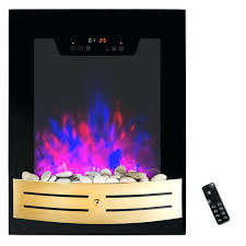 led fireplace heater tempered glass wall mount touch screen timer
