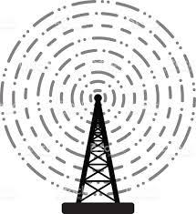 Radio Tower For Internet Vector Radio Tower Broadcast Stock Vector Art 533477101 Istock