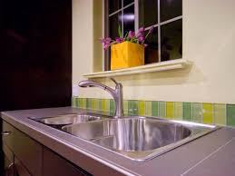 How To Install Glass Mosaic Tile Backsplash In Kitchen Kitchen Backsplash White Tile Backsplash Ceramic Tile Backsplash