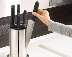 cutlery set with stand elevate knives carousel 100