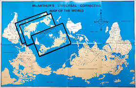 Universal Map Mcarthur U0027s Universal Corrective World Map Paper Folded Version